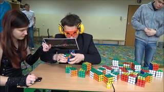Maskow: Multiblindfold World Record 41/41, 54:14