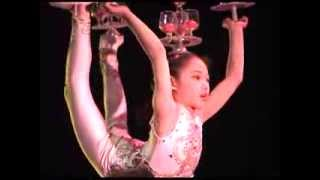 Chinese acrobatic troupe performs juggling and incredible balance acts -- amazing -- Xian, China
