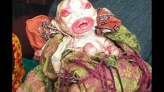 Indian girl delivery on the alien baby child shocking video!!!!