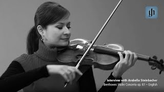 ベートーヴェン Violin Concerto op. 61 - Japanese - interview with Arabella Steinbacher