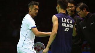 Lin Dan 林丹 vs Lee Chong Wei 李宗伟 - 2017 Badminton Asia Championships MS SF [1080p HD]