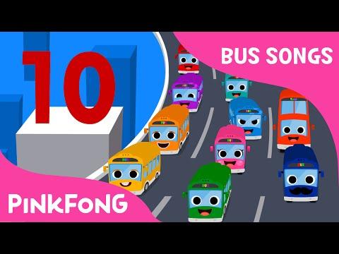 Ten Little Buses | Bus Songs | Car Songs | PINKFONG Songs