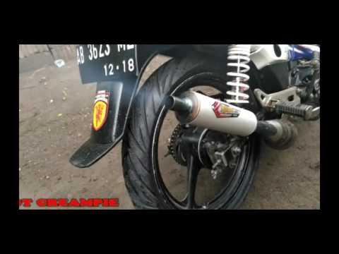 Knalpot Creampie tipe Dot Kolong untuk F1ZR   Creampie racing muffler