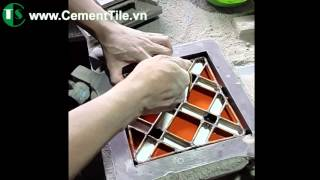 How to made encaustic cement tiles ?