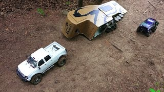 RC ADVENTURES - Trailer Rollover - Chevy Duramax & Toyota Hilux