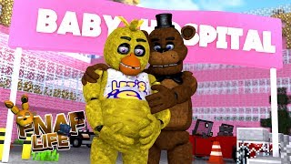 Minecraft FIVE NIGHTS AT FREDDY'S LIFE-CHICA AND FREDDY FAZBEAR ARE HAVING A BABY???- Baby Leah