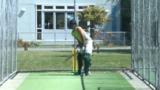 Harry trying to hit yorkers