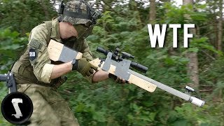 Guy Brings Home-made Airsoft Gun and Destroys Everyone....