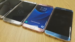 Blue Coral Samsung Galaxy S7 Edge - Hands On 4K (All U.S. Colors)