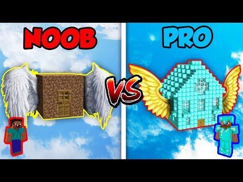 Minecraft NOOB vs. PRO FLYING HOUSE in Minecraft