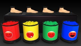 Learn Colors w Magic Balls for Kids - Foot Painting Finger Family Superheroes Surprise for Babies