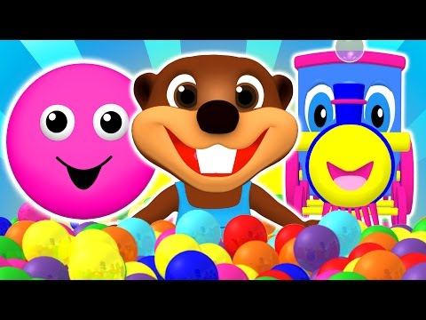 Baby Pop Learn Colors Shapes ABCs Alphabet & Nursery Rhymes Teach Children with Busy Beavers