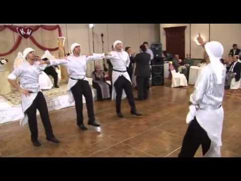 Arab men dance Lebanon