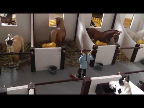 Как сделать конюшню для лошадей шляйх из дерева