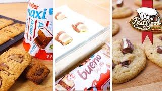 Compilation de recettes Kinder : Cookies, tiramisu & financier
