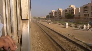 Pakistan Railways:41up Karakaram Express crossing Landhi Junction