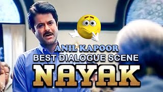Anil Kapoor Signing on Suspenssion Order from Nayak Movie Scene