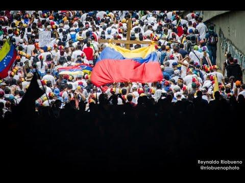 Protestas en Caracas Venezuela 22 04 2017