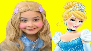 Cinderella Disney Princess Dress Up Costume and Makeover with Sunshine, Pretend Play Toy Make Up