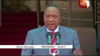 President elect Uhuru Kenyatta calls on Kenyans to foster peace