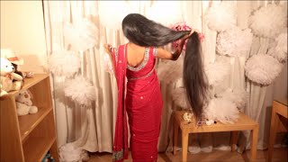 Hairstyle for saree Indian festival
