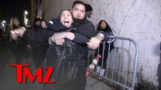 Tyga Grabs for Gun After Being Dragged Out of Floyd Mayweather