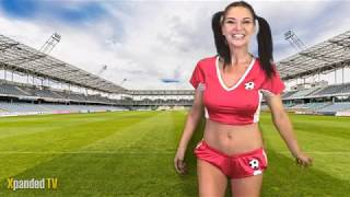 Dionne Mendez Shows off her Football Skills for the World Cup 2018