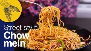 Chow mein—Calcutta-street-style—Durga Pujo Special—Kolkata Street Food—Indo Chinese