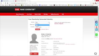 Free Temporary/Disosable Email Account & Fake Name/Address Generator