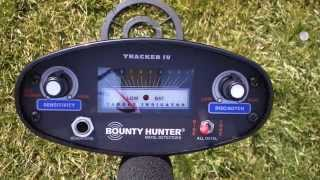 Bounty Hunter Tracker IV Metal Detector How To Operate and Instructional Video