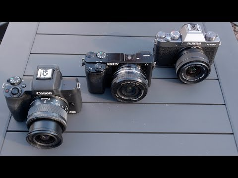 DPReview TV Entry Level APS C Mirrorless Cameras Canon EOS M50 Sony a6000 Fujifilm X T100