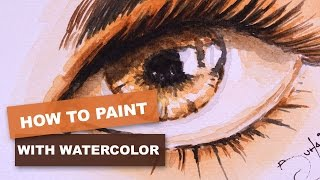 How to easily paint a eye in watercolor.