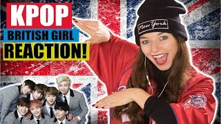 BRITISH GIRL WATCHES KPOP FOR THE FIRST TIME! BTS Blood Sweat & Tears