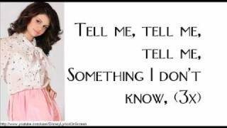 Selena Gomez & The Scene - Tell Me Something I Don't Know(New Version) - Lyrics On Screen