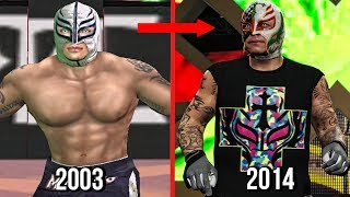 The Evolution Of Rey Mysterio In WWE Games!  ( Wrestlemania To WWE 2K15 )