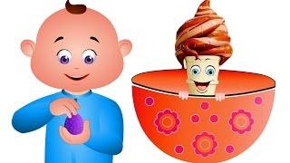 Five Little Babies Opening An Eggs IceCreams | Kids Songs | JamJammies Nursery Rhymes