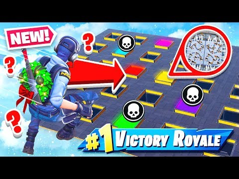 CHOOSE the WRONG HOLE YOU LOSE NEW Game Mode in Fortnite Battle Royale