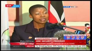Mrs. Dorcas Agik Oduor-Secretary, DPP at launch of Elections Security Arrangement Program