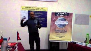 TM Mukesh Singh delivering Speech 7, Research your topic, on 13 Feb 2014 at Himalaya Toastmasters