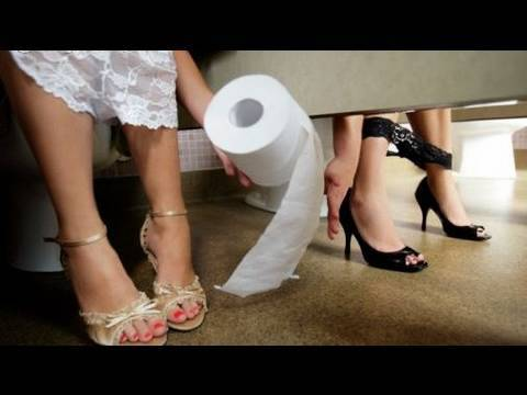 CAMERA IN LADIES BATHROOM! ;)