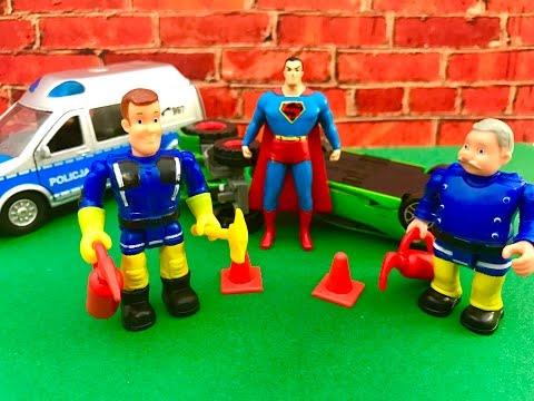 Strazak Sam Bajka po Polsku Superman ratuje akcje Strazaka Sama