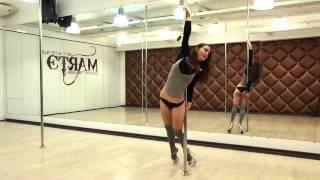 Exotic Pole Dance - lesson 2. Tatiana Marsheva
