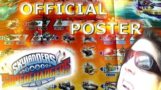 OFFICIAL Skylanders Superchargers Poster ALL CHARACTERS and VEHICLES (My thoughts)