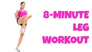8 Minute Legs -- At Home Lower Body Workout No Equipment Thigh Exercises All Levels