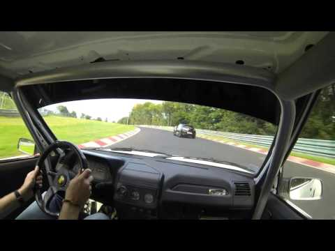 205 GTI vs Megane RS and Yamaha R1 battle Nordschleife 8.30 BTG
