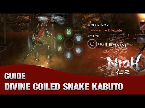 Nioh - How to Get a Divine Coiled Snake Kabuto