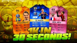 FIFA 16: MAKING 1K COINS IN 30 SECONDS - CRAZY TRADING CHALLENGE!!
