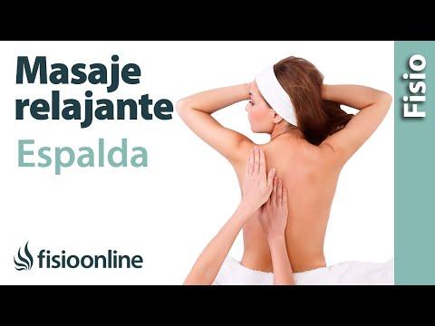 Cómo dar un masaje relajante de espalda Dorsales y lumbares