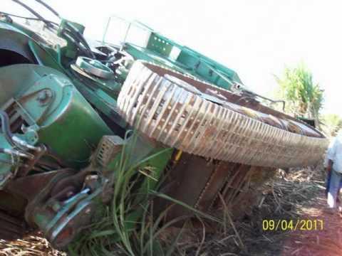 acidentes com colhedoras de cana