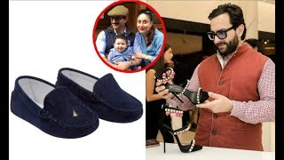 Saif Ali Khan Shops Shoes For Son Taimur Ali Khan & Wife Kareena Kapoor
